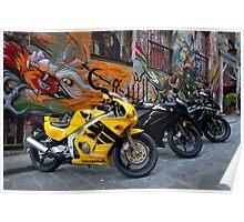 Bike versus Art Poster
