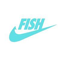 Fwish Hook - Tiffany Blue on White by fishermenclub