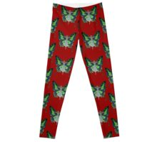 Art Nouveau Vintage Flapper With Butterfly Wings Leggings