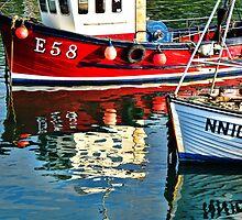 Local Fishing Boats ~ Lyme Regis by Susie Peek