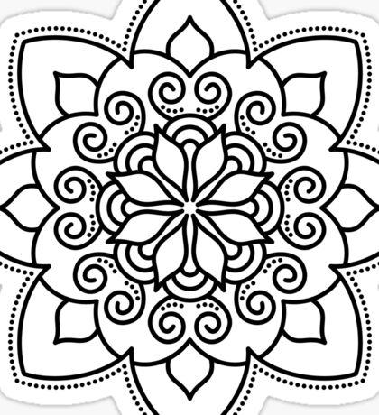 Simple Swirl Mandala Sticker