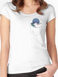 [BLACK BUTLER] Pocket Ciel Phantomhive Women's Fitted Scoop T-Shirt