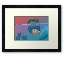 Lion Turtle Framed Print