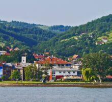 Donji Milanovac, Romania (panorama) Sticker