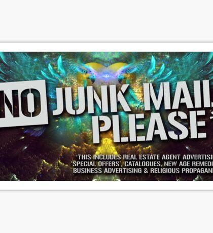 No Junk Mail Please - Sticker Sticker