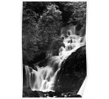 Torc Waterfall Killarney B&W Poster