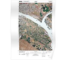 USGS Topo Map Washington State WA Pasco 20110407 TM Poster