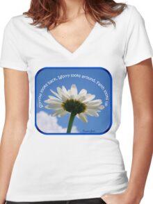 Faith Looks Up ~ Dance! Women's Fitted V-Neck T-Shirt