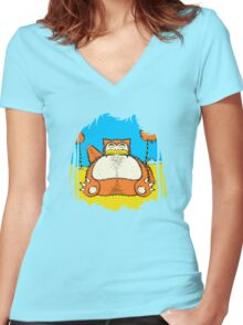 Snorax Women's Fitted V-Neck T-Shirt