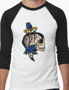 Skull and rose Men's Baseball ¾ T-Shirt
