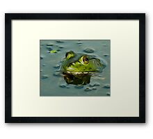 Bullfrog Oil Framed Print
