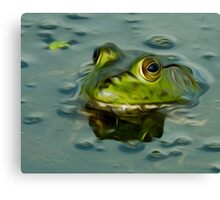 Bullfrog Oil Canvas Print