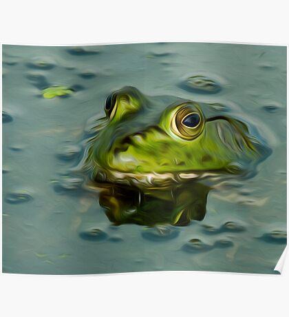 Bullfrog Oil Poster