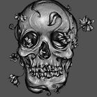 Skull #2 ~Grey by Shelbeawest