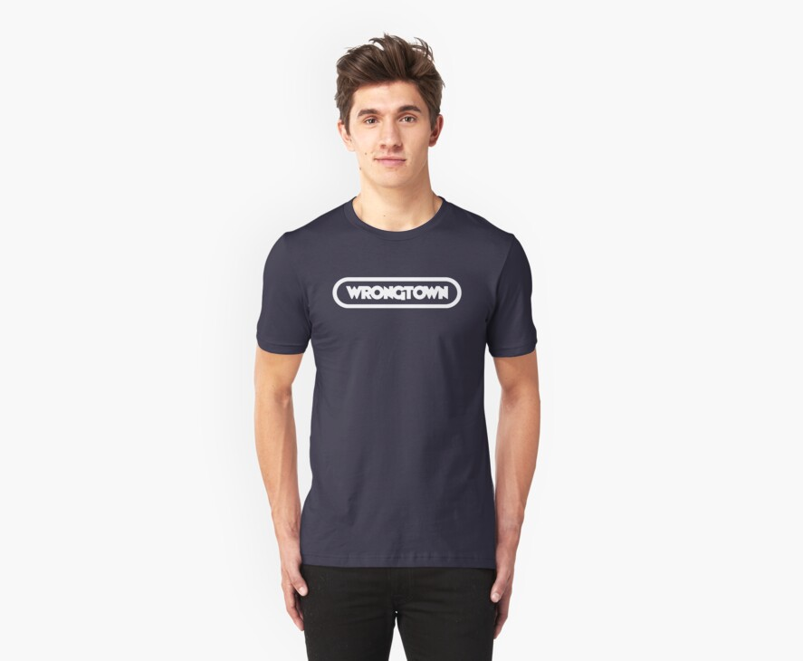 Wrongtown T-shirt Capsule Light Text (Mens) by houseAU