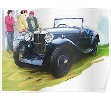 1933 MG J2 Poster