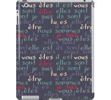 Être - the French verb 'to be' iPad Case/Skin