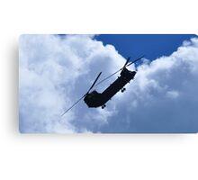 RAF Chinook Demo Silhouette Canvas Print