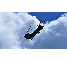 RAF Chinook Demo Silhouette Photographic Print