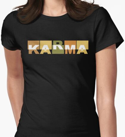 Karma T-Shirt Womens Fitted T-Shirt