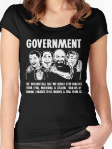 Government Lunatics Women's Fitted Scoop T-Shirt