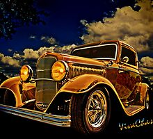 32 Ford Three Window Coupe and the Golden Hour by ChasSinklier
