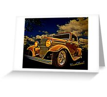32 Ford Three Window Coupe and the Golden Hour Greeting Card
