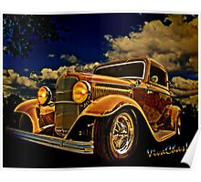32 Ford Three Window Coupe and the Golden Hour Poster