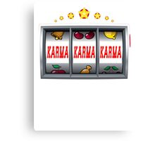 Karma Win Slot Machine Canvas Print