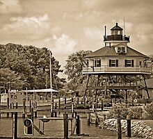 Drum Point Lighthouse - Calvert Marine Museum - Maryland U.S.A. by Vincent Frank