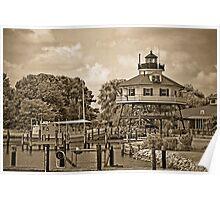 Drum Point Lighthouse - Calvert Marine Museum - Maryland U.S.A. Poster