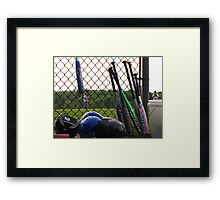 Coming to bat Framed Print