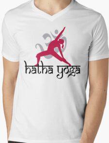 Hatha Yoga T-Shirt Mens V-Neck T-Shirt