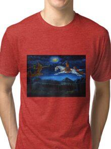 buddha flying Tri-blend T-Shirt