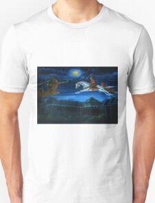 buddha flying Unisex T-Shirt