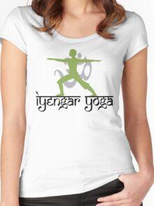 Iyengar Yoga T-Shirt Women's Fitted Scoop T-Shirt