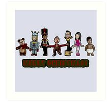 Stop Motion Christmas - Style A Art Print