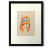 Feathered Red Head (The Original) Framed Print