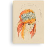 Feathered Red Head (The Original) Canvas Print