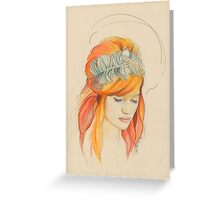 Feathered Red Head (The Original) Greeting Card