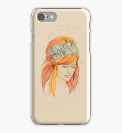 Feathered Red Head (The Original) iPhone Case/Skin