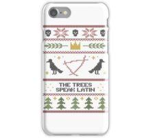The (Holiday) Trees Speak Latin iPhone Case/Skin