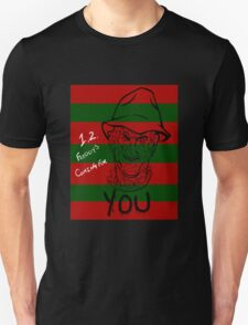 1,2 Freddy's Coming For You (Stripes) T-Shirt