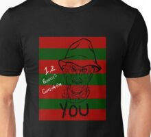 1,2 Freddy's Coming For You (Stripes) Unisex T-Shirt
