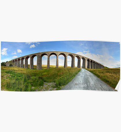 Ribblehead Viaduct Panorama Poster