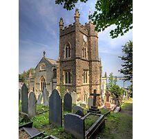 St. Mary's Church Clock - Appledore Photographic Print