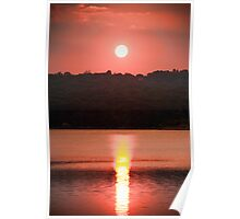 Ripples Of A Sunset Poster
