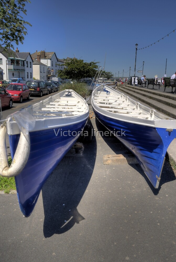 Two Boats Blue - Appledore by Victoria limerick
