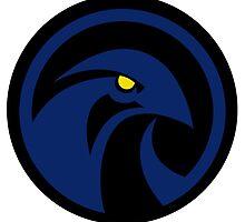 Raven Logo Emblem - Teen Titans  by NoirGraphic