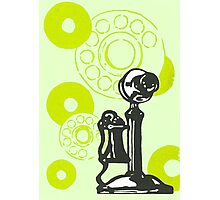 Green Vintage Telephone Photographic Print